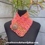 Orange Wood Fall Cowl free crochet pattern