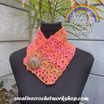 Orange Wood Fall Cowl ~ Crafting A Rainbow Of Hope!