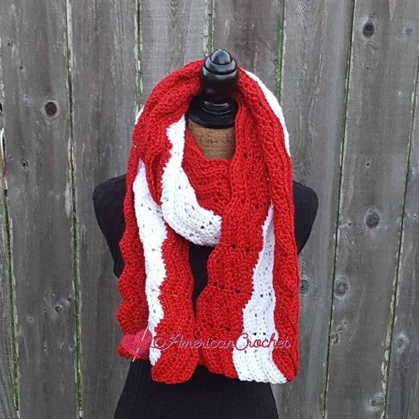 Peppermint Wrap | Free Crochet Pattern | American Crochet @americancrochet.com #freecrochetpattern