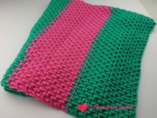 Rice Cakes Preemie Baby Blanket | Free Crochet Pattern | American Crochet @americancrochet.com #freecrochetpattern