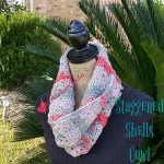Staggered Shells Cowl free crochet pattern