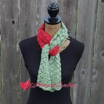 Staggered Shells Scarf free crochet pattern