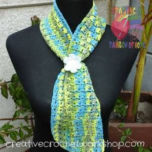 The Oasis Neck Scarf free crochet pattern