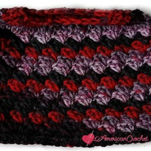 Everyday Kisses Messy Bun Hat | Free Crochet Pattern | American Crochet @americancrochet.com #freecrochetpattern