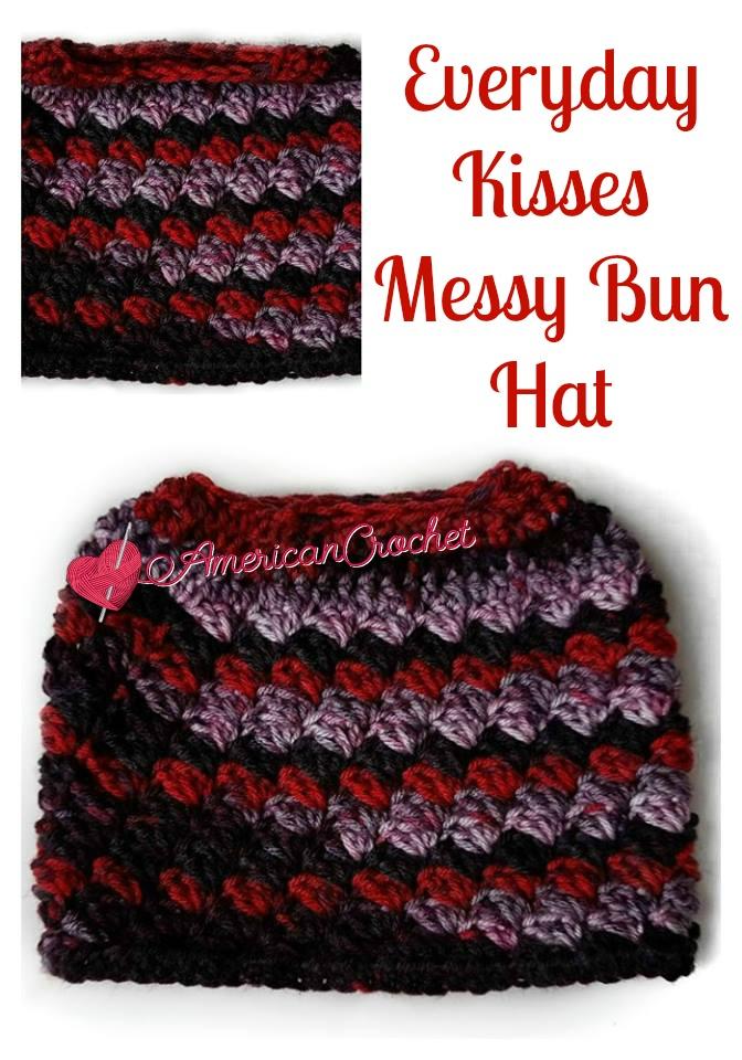 Everyday Kisses Messy Bun Hat