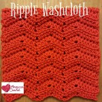 Ripple Washcloth free crochet pattern