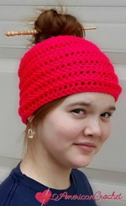 Simply Reversible Messy Bun Hat
