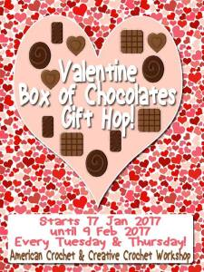Valentine Box of Chocolates Gift Hop! Free Crochet Patterns @americancrochet.com @creativecrochetworkshop.com