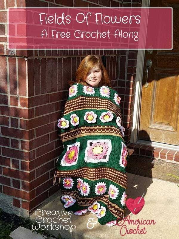 Fields Of Flowers Afghan | Free Crochet Pattern | American Crochet @americancrochet.com @creativecrochetworkshop.com #freecrochetpattern #freecrochetalong