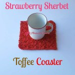 Strawberry Sherbet Toffee Coaster free crochet pattern