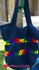 Classic Tote Bag | Free Crochet Pattern | American Crochet @americancrochet.com #freecrochetpattern