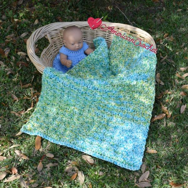 Serendipity do dah Baby Blanket | Free Crochet Pattern | American Crochet @americancrochet.com #freecrochetpattern