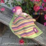 Cluster Striped Baby Blanket free crochet pattern