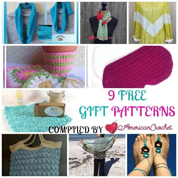 9 FREE Gifts for Mom | Free Crochet Patterns | American Crochet @americancrochet.com #freecrochetpatterns