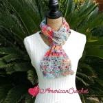 AC-Sweet Rainbow Scarf free crochet pattern