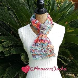Sweet Rainbow Scarf | Crochet Pattern | American Crochet @americancrochet.com #crochetpattern