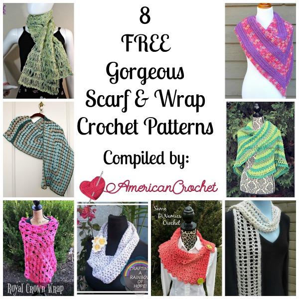 8 FREE Gorgeous Scarf & Wrap | Free Crochet Pattern | American Crochet @americancrochet.com #freecrochetpatterns