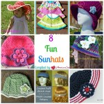 8 Fun Sunhats free crochet pattern roundup