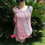 Berry Bubbles Shawl free crochet pattern
