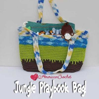 Jungle Playbook Bag ~ Free Crochet Pattern