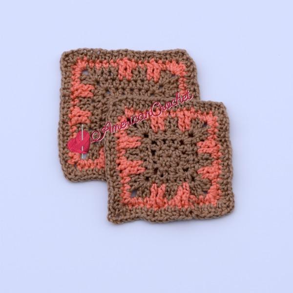 Luna Coaster | Free Crochet Pattern | American Crochet @americancrochet.com #freecrochetpattern