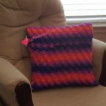 Rainbow Twist Pillow Cover free crochet pattern