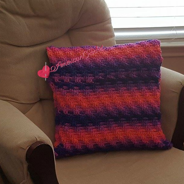 Rainbow Twist Pillow Cover | Free Crochet Pattern | American Crochet @americancrochet.com #freecrochetpattern