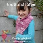 Pink Melody Scarf free crochet pattern