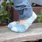 Winter Blues Easy slippers free crochet pattern