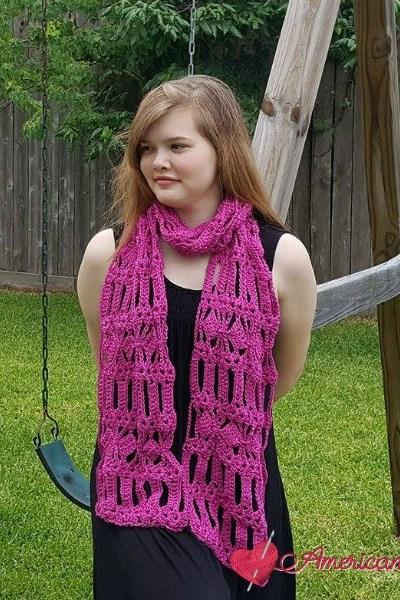 AC-Diamond Bars Scarf free crochet pattern