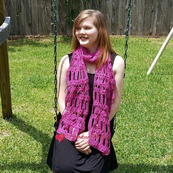Diamond Bars Scarf | Free Crochet Pattern | American Crochet @americancrochet.com #freecrochetpattern