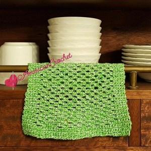 Double Moss Dishcloth | Free Crochet Pattern | American Crochet @americancrochet.com #Double Moss Dishcloth