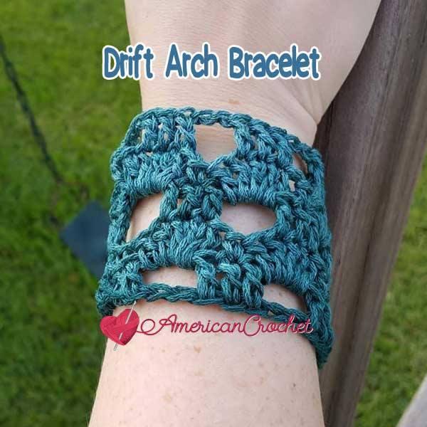 Drift Arch Bracelet | Free Crochet Pattern | American Crochet @americancrochet.com #DriftArchBracelet