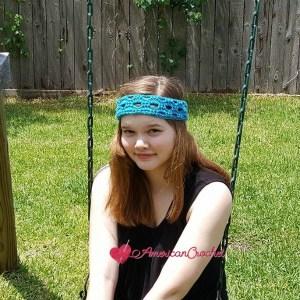 Fashion Arch Headband | Crochet Pattern | American Crochet @americancrochet.com #crochetpattern