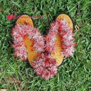 Funky Sandals ~ Free Crochet Pattern