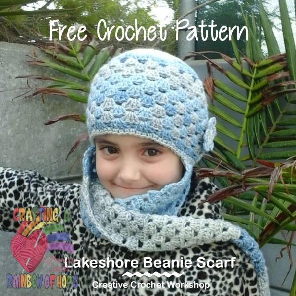 Lakeshore Beanie Scarf | Free Crochet Pattern | Creative Crochet Workshop @americancrochet #Lakeshore Beanie Scarf