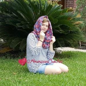 Madeline's Sunset Cowl | Crochet Pattern | American Crochet @americancrochet.com #crochetpattern