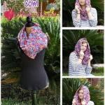 Madeline's Sunset Cowl free crochet pattern