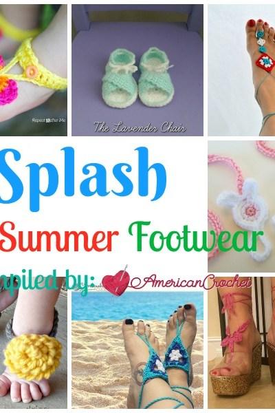 Splash into Summer Footwear free crochet pattern roundup