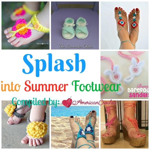 Splash into Summer Footwear | Free Crochet Pattern | American Crochet @americancrochet.com #freecrochetpattern