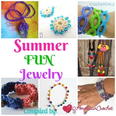 Summer Fun Jewelry ~ Free Crochet Pattern Roundup