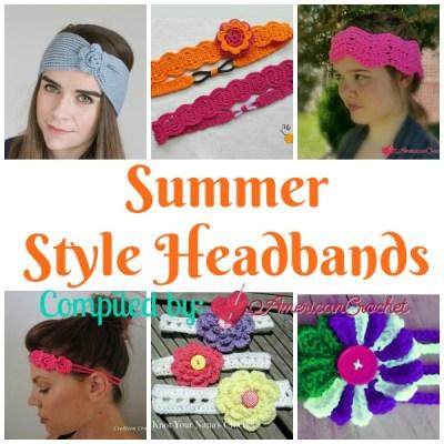 Summer Style Headbands ~ Free Crochet Pattern Roundup
