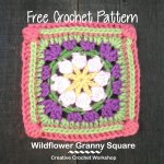 Wildflower Granny Square free crochet pattern