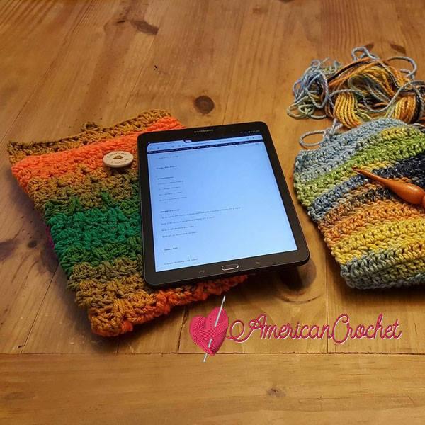 Confetti Tablet Cover | Free Crochet Pattern | American Crochet @americancrochet.com #freecrochetpattern