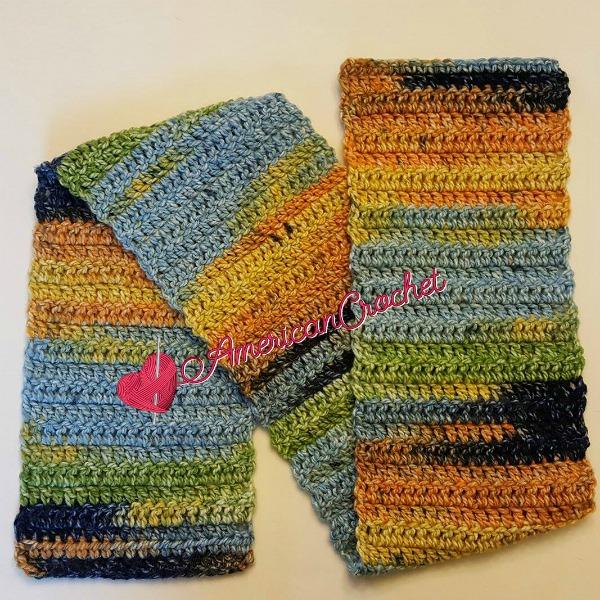 Kids Big Boy Scarf American Crochet Free Crochet Pattern