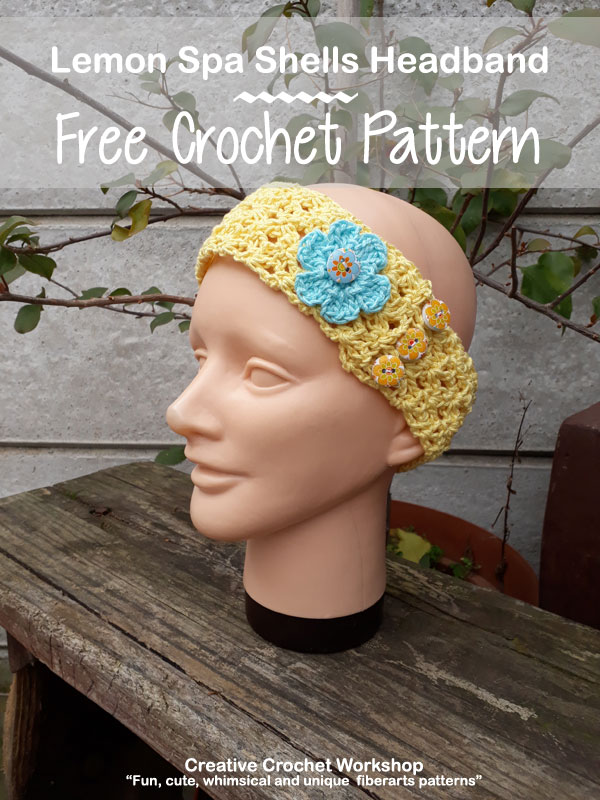 Lemon Spa Shells Headband - Free Crochet Pattern | American Crochet @creativecrochetworkshop #crochet #freecrochetpattern #spacrochetgiftalong