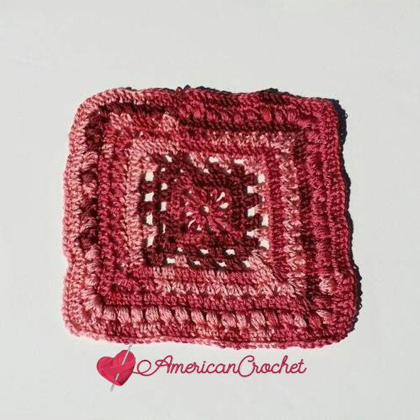 Rosewood Square | Free Crochet Pattern | American Crochet @americancrochet.com #freecrochetpattern #afghancrochetalong