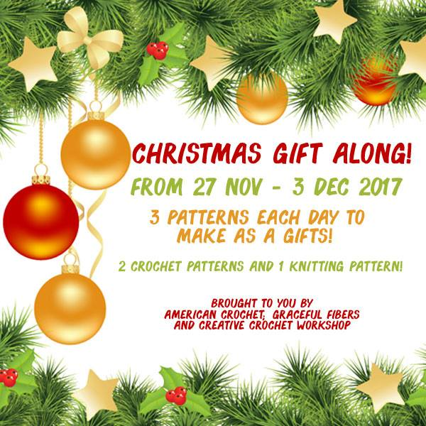 2017 Christmas Gift Along | American Crochet @americancrochet.com @creativecrochetworkshop.com @gracefulfibers.com #freecrochet&knitpatterns