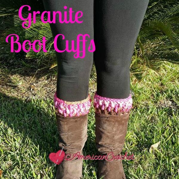 Granite Boot Cuffs | Free Crochet Pattern | American Crochet @americancrochet.com #freecrochetpattern