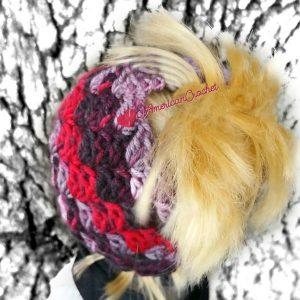 My Dolly Everyday Kisses Messy Bun Hat   Crochet Pattern   American Crochet @americancrochet.com #crochetpattern